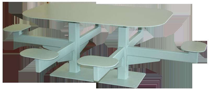 Piedmont Metals Custom Fabricated 6 Man Metal Table